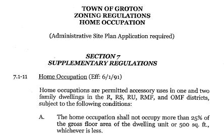 Home Occupation Zoning Regulations