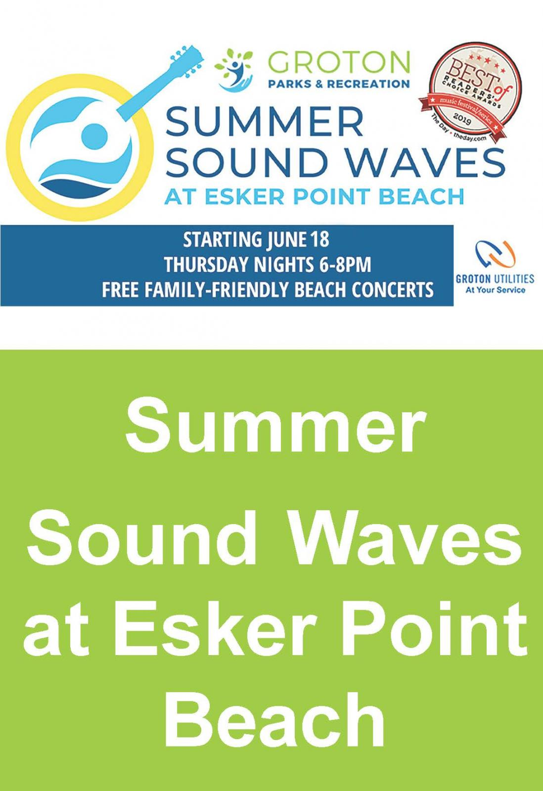 Event Promo Photo For Summer Sound Waves at Esker Point Beach